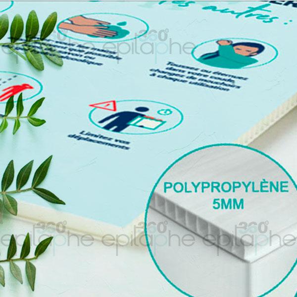 Affichage sur polypropylène